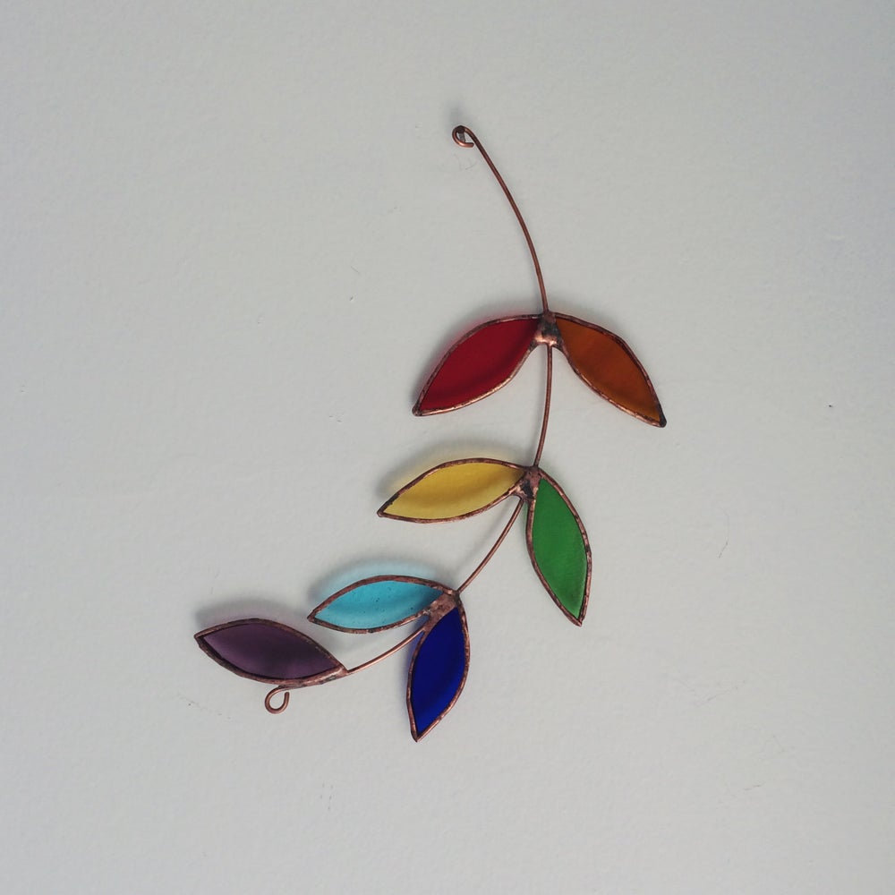 Image of Rainbow Olive Branch - 10% of proceeds to the WHO's Covid-19 Solidarity Response Fund.