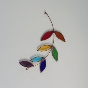 Image of Rainbow Olive Branch - 20% proceeds to RAICES and The Young Center for Immigrant Children's Rights