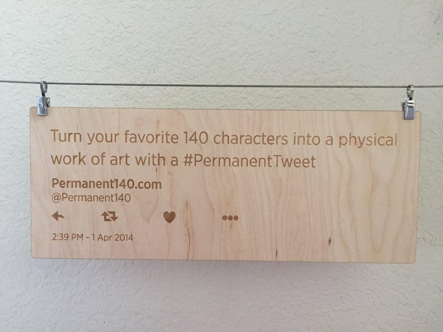 Image of #PermanentTweet wall hanging