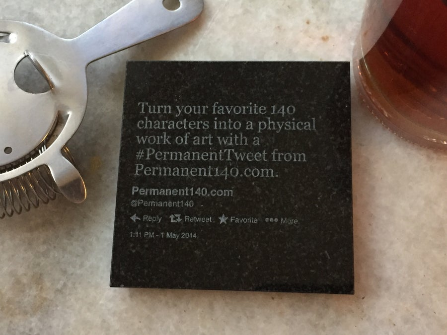 Image of #PermanentTweet granite coaster