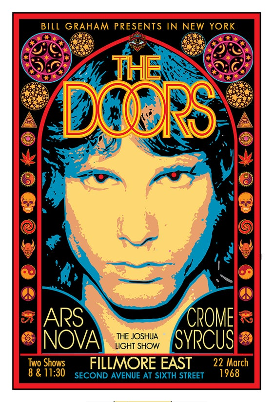 Image of THE DOORS at the FILLMORE EAST • MARCH 1968