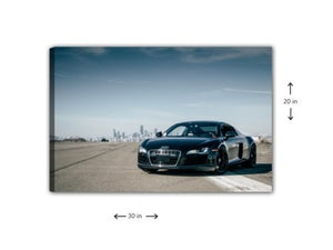 Image of White Line Danger Zone Wall Canvas