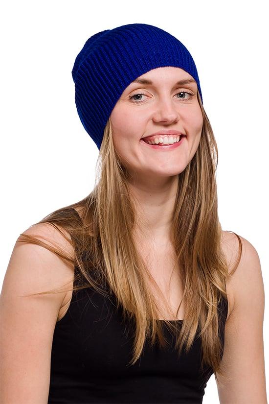 Image of WOOLEN BEANIE Bright blue
