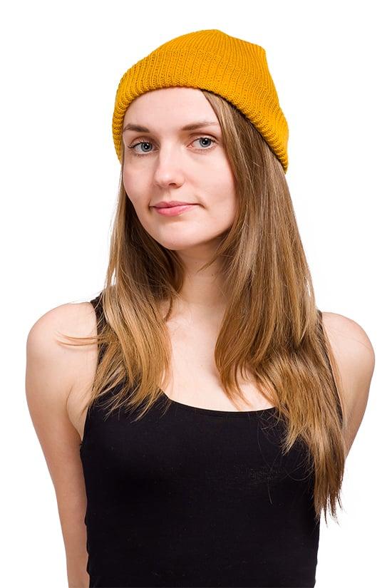 Image of WOOLEN BEANIE Yellow