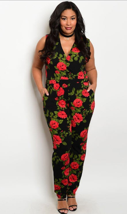 Image of Rose Jumpsuit -Curvy