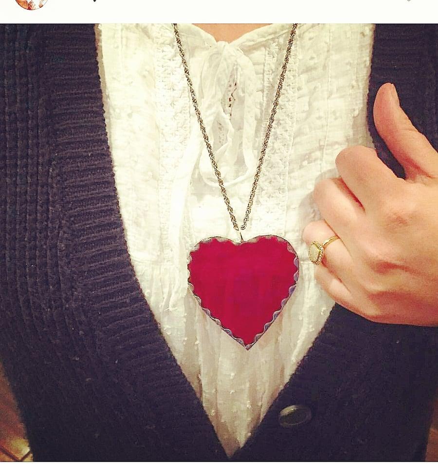 Image of Glass Heart pendant