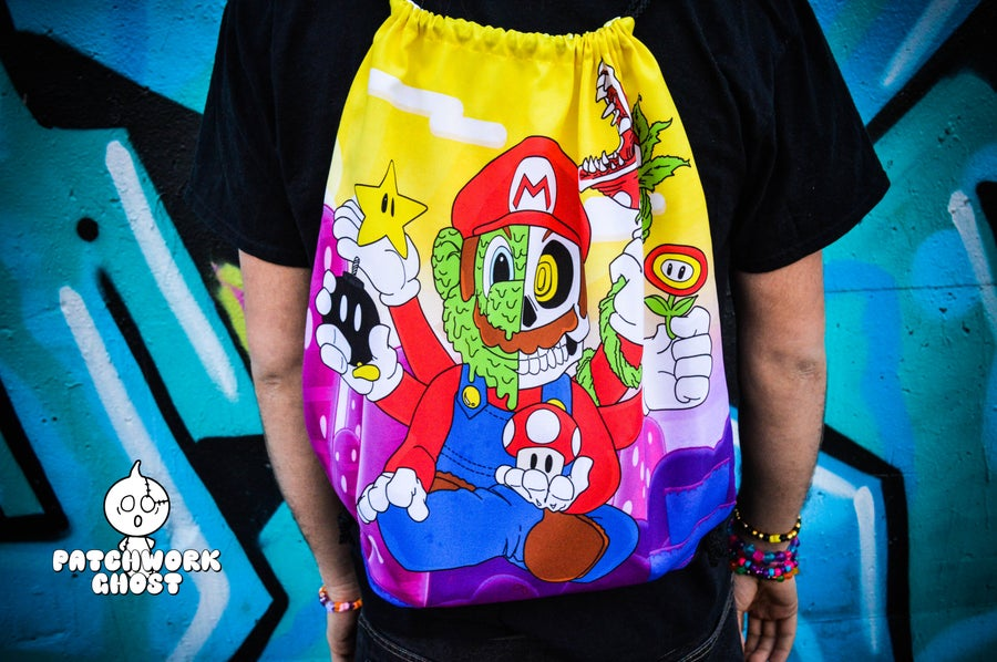 Image of 1-UP All Over Print Drawstring Bag