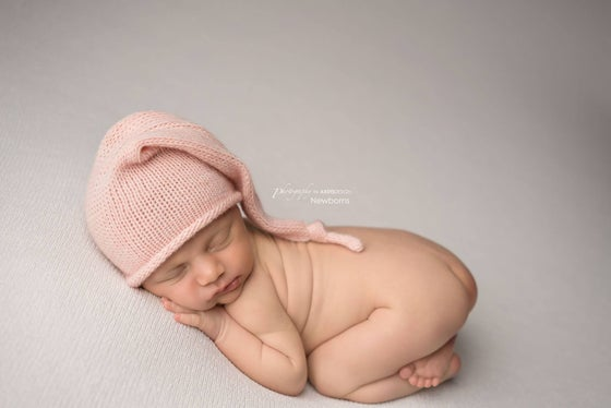 Image of NEW Peony Pink Merino Sleepy Hat