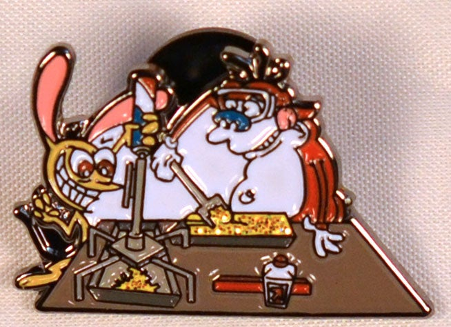 Image of Ren and Stimpy Bhomb Tube Crew Hatpin