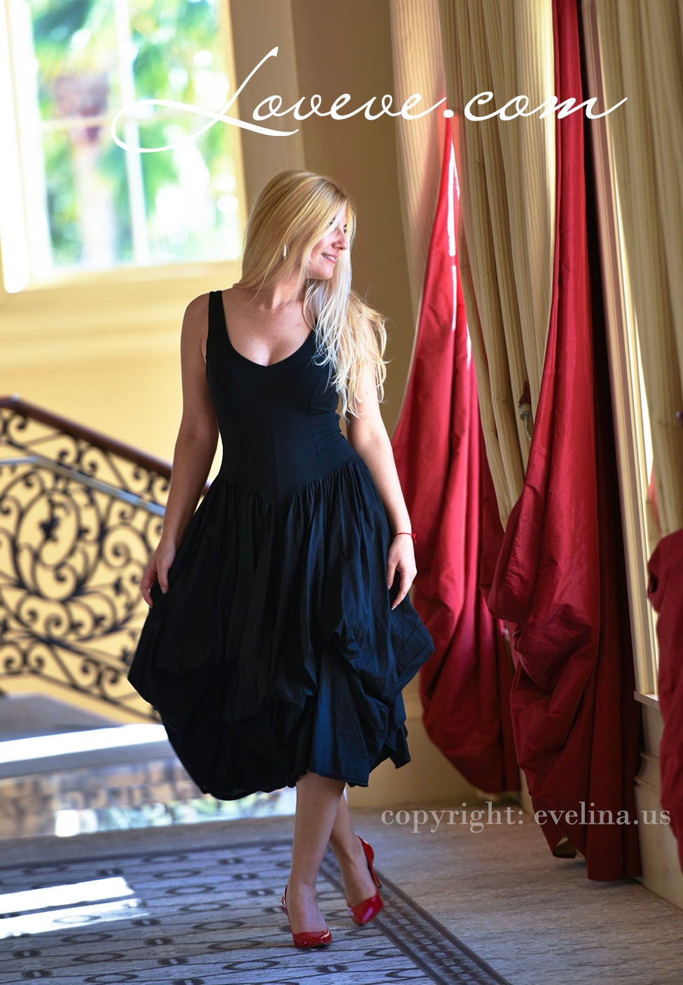 Image of Luna Luz Boutique Sundress with Ties in Black