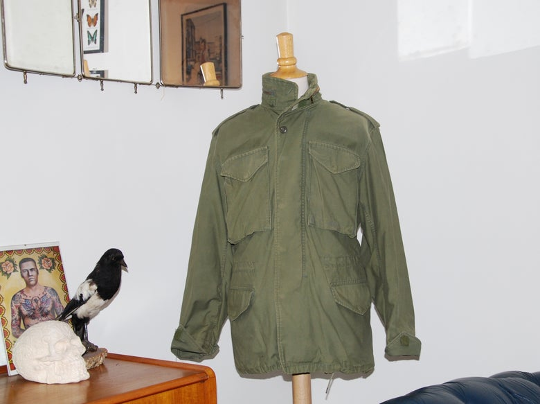 Image of Vintage M65 US Army jacket vietnam Era