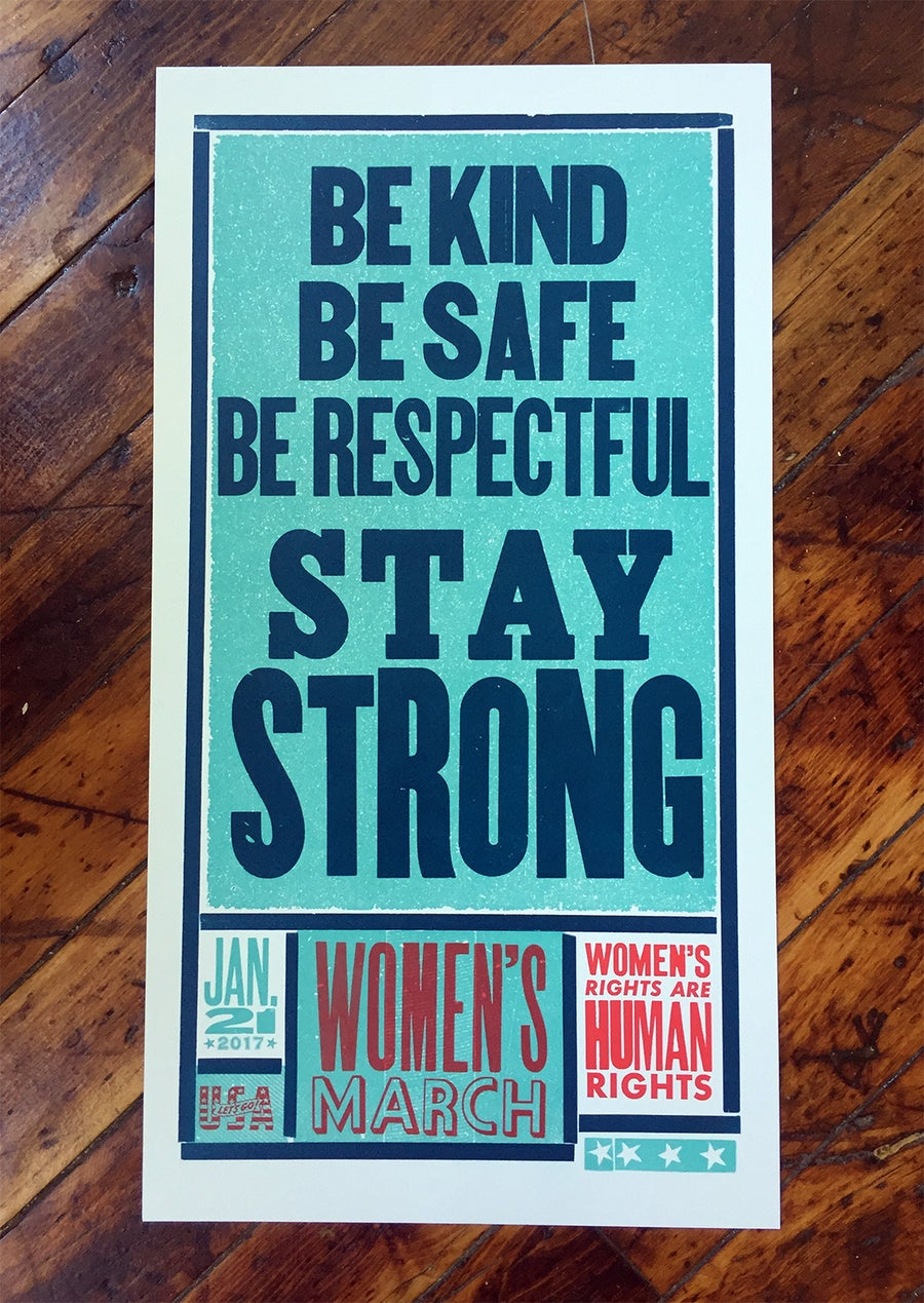Image of Women's March Poster (Be Kind)