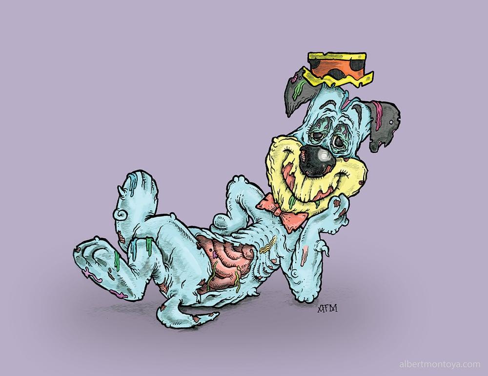 """Image of Print """"Zombi-Berry Hound"""""""