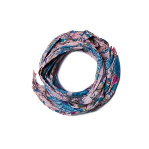 Image of 676685040176-1 KANTHA COTTON SCARF 18 X 72 - 333A