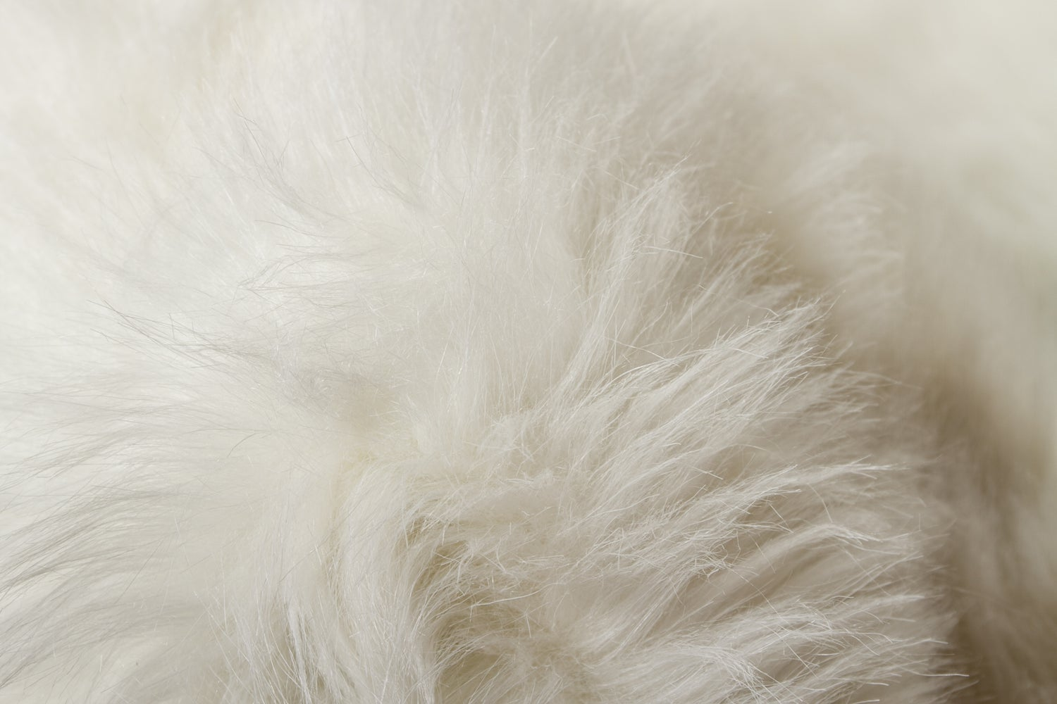 Image of 676685040978 ROYALE GORDON FAUX SHEEPSKIN FUR RUG DOUBLE  2' X 6'  OFF WHITE