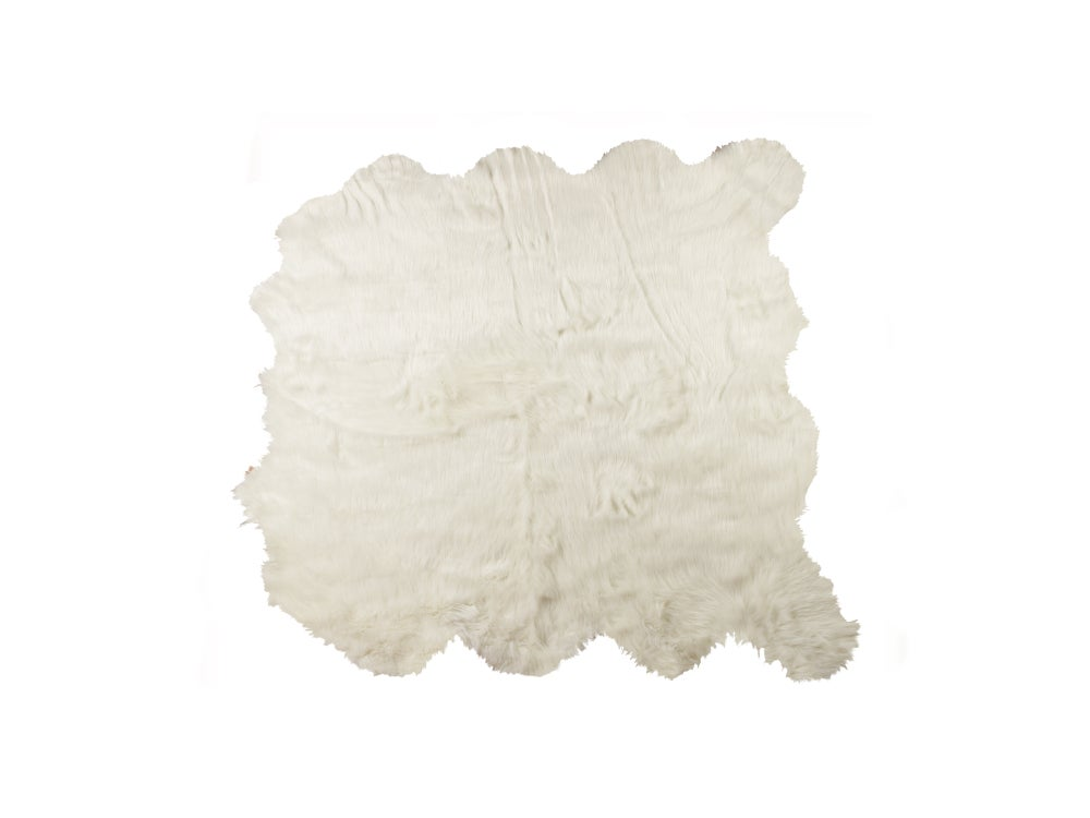 Image of 676685041005 ROYALE GORDON FAUX SHEEPSKIN  FUR RUG OCTO 6' X 6'  OFF WHITE
