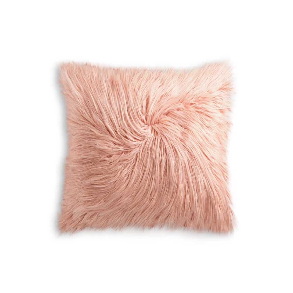 Image of 676685041555 FRISCO MONGOLIAN SHEEPSKIN FAU… DUSTY ROSE
