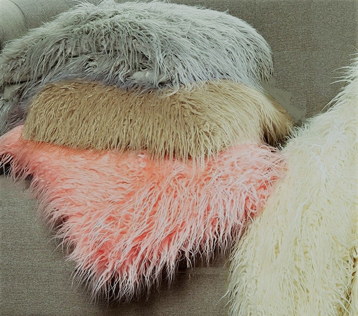 Image of 676685041562 FRISCO MONGOLIAN SHEEPSKIN FAU… - SAGE GREY