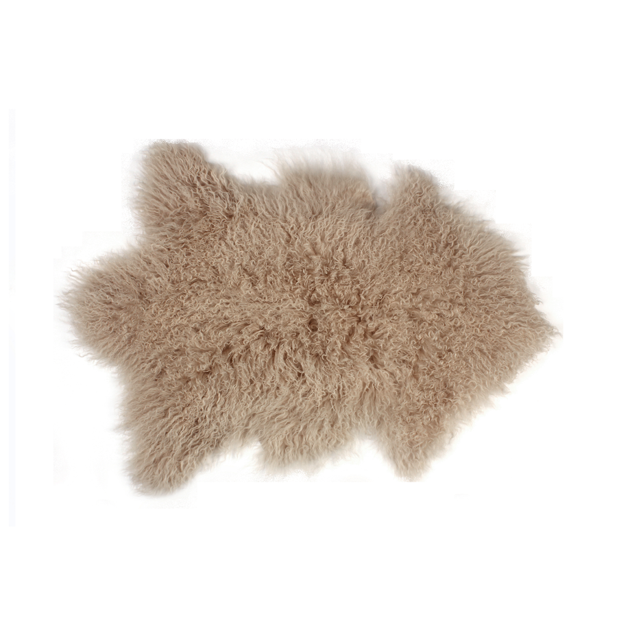 Image of 676685041746 Rockwall Mongolian Sheepskin 2X3 Tan