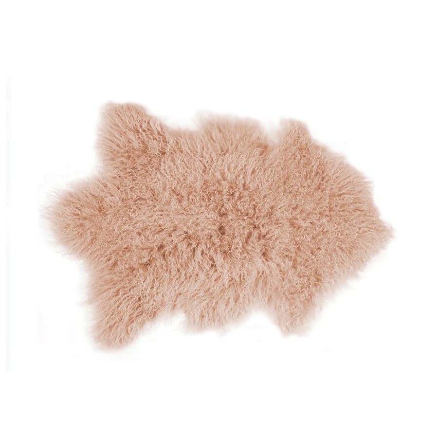 Image of 676685041753 Rockwall Mongolian Sheepskin 2X6 Dusty Rose