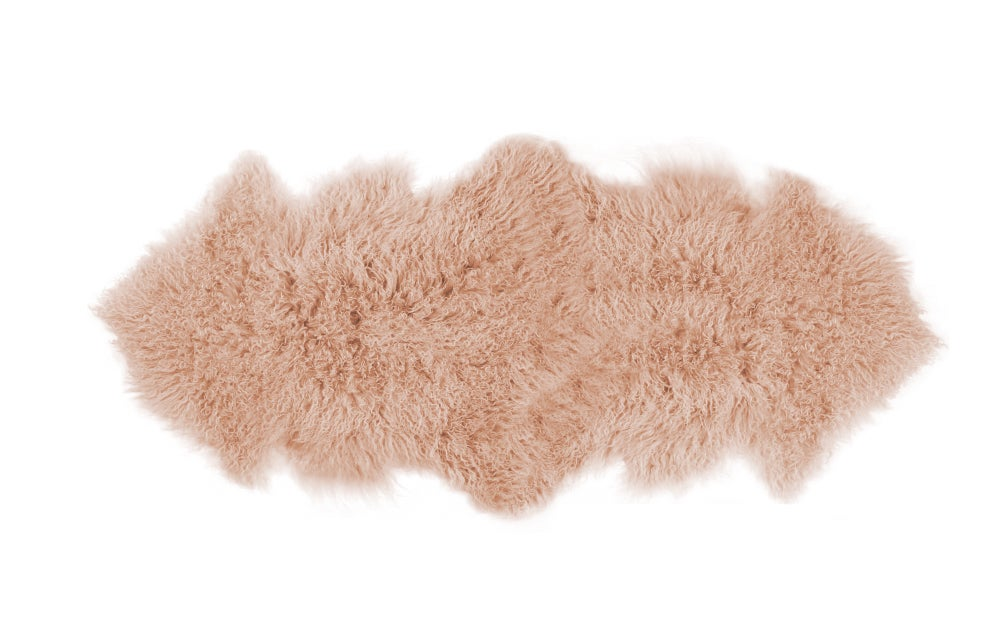 Image of 676685041807 Rockwall Mongolian Sheepskin 2X6 Dusty Rose