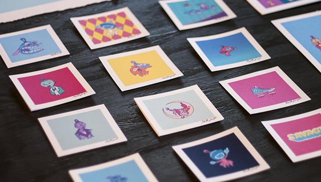 Image of Micro Print Set // 3lb God