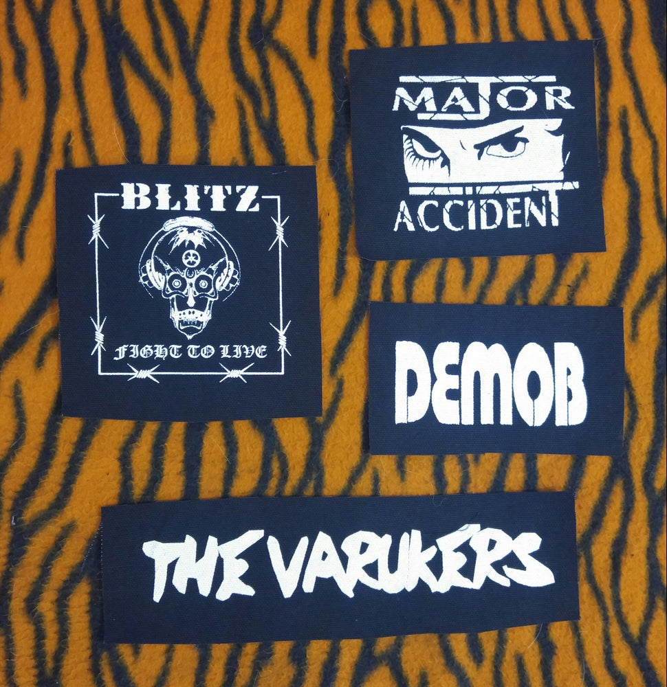 Image of Pick 1 patch - Blitz, The Varukers, Major Accident, Demob