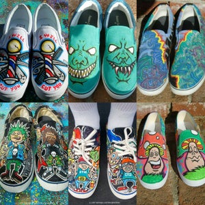 Image of *Custom  Vans shoes