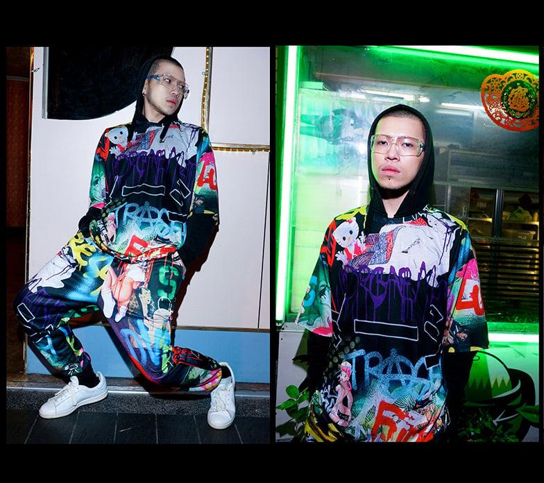 Image of DVMVGE TOKYO X' TYO X Trackpants