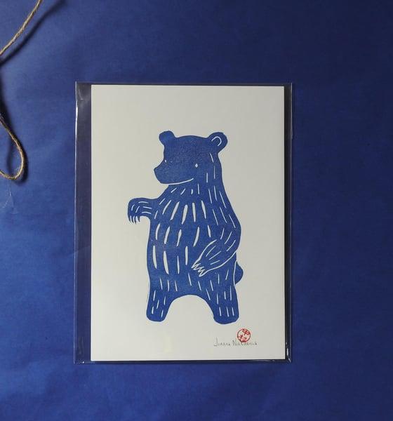 Image of Blue Bear I Mini Print