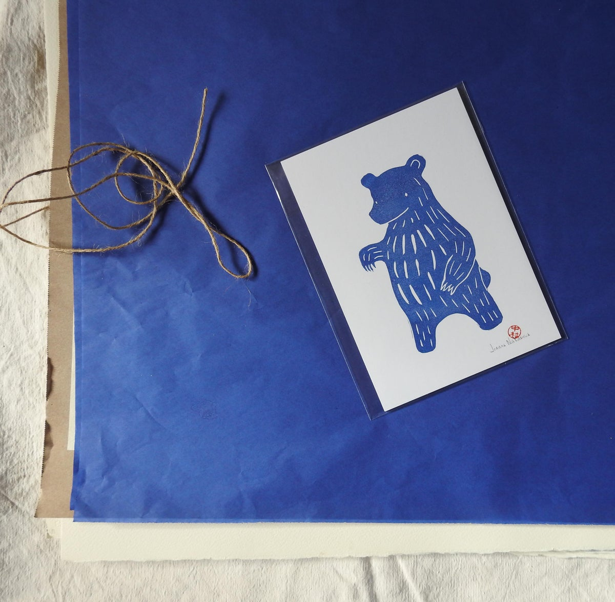 Image of Blue Bear I Mini Print