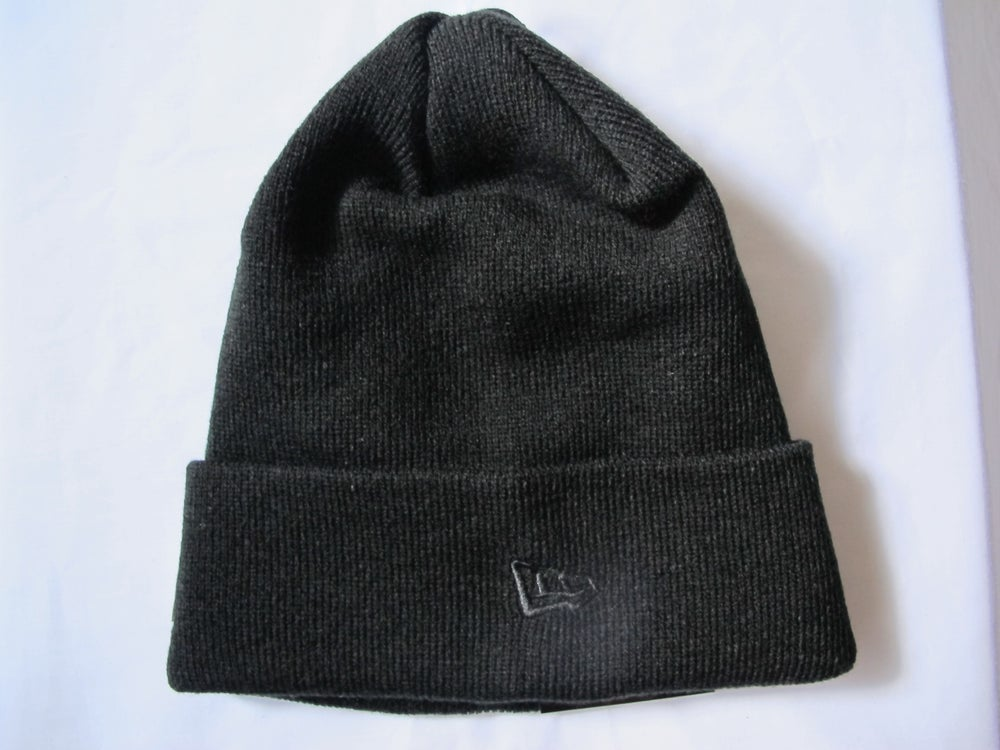 Image of Fragment x New Era - BASIC CUFF KNIT (Black)