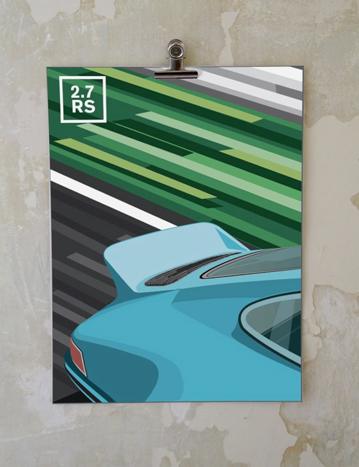 Image of Affiche Porsche 911 2.7 RS