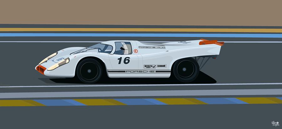 Image of Affiche Porsche 917