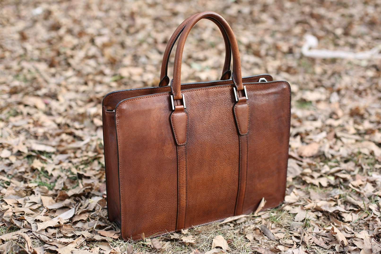 Handmade Vintage Full Grain Leather Briefcase Laptop Bag Men S Handbag Nz02