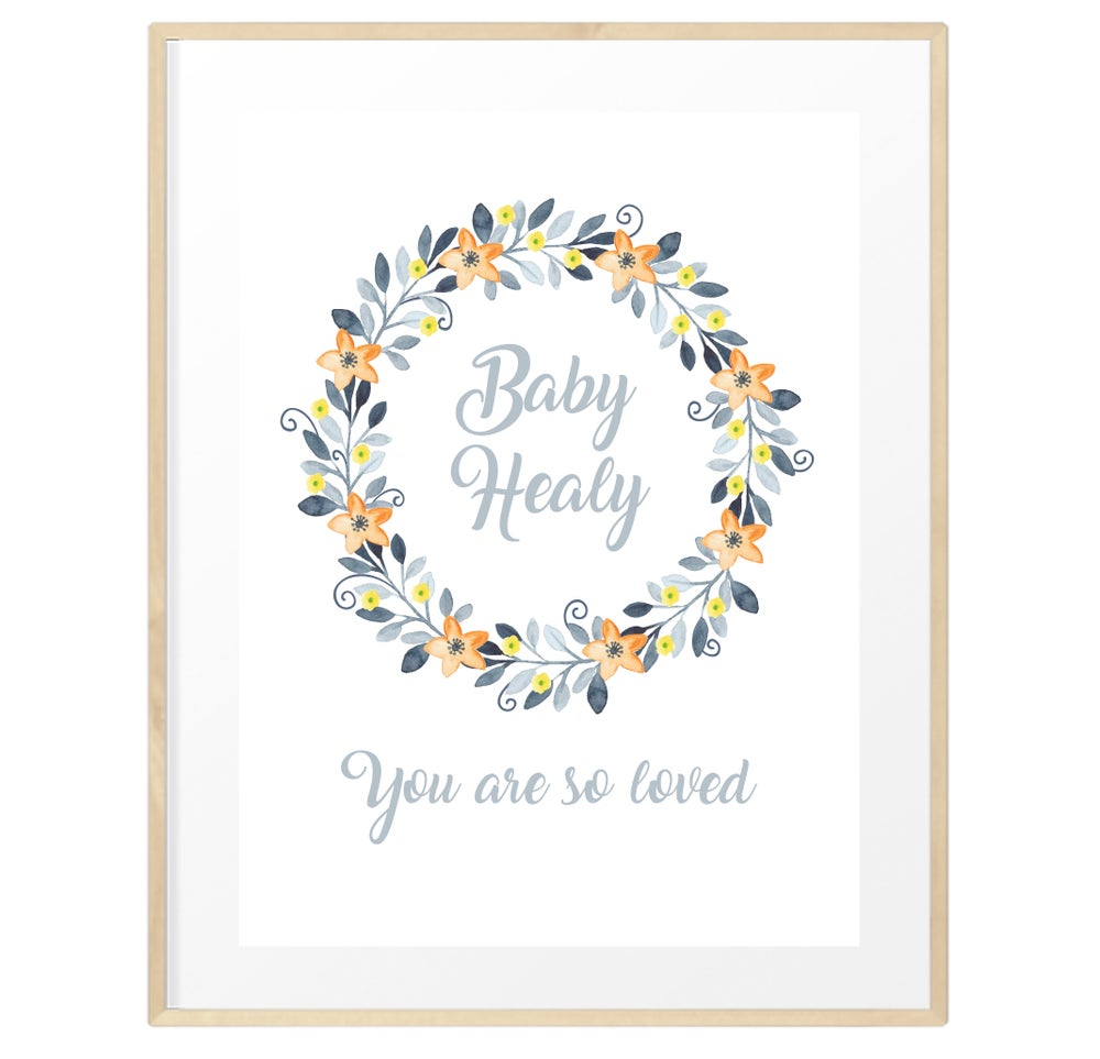 Image of Personalised gender neutral baby print