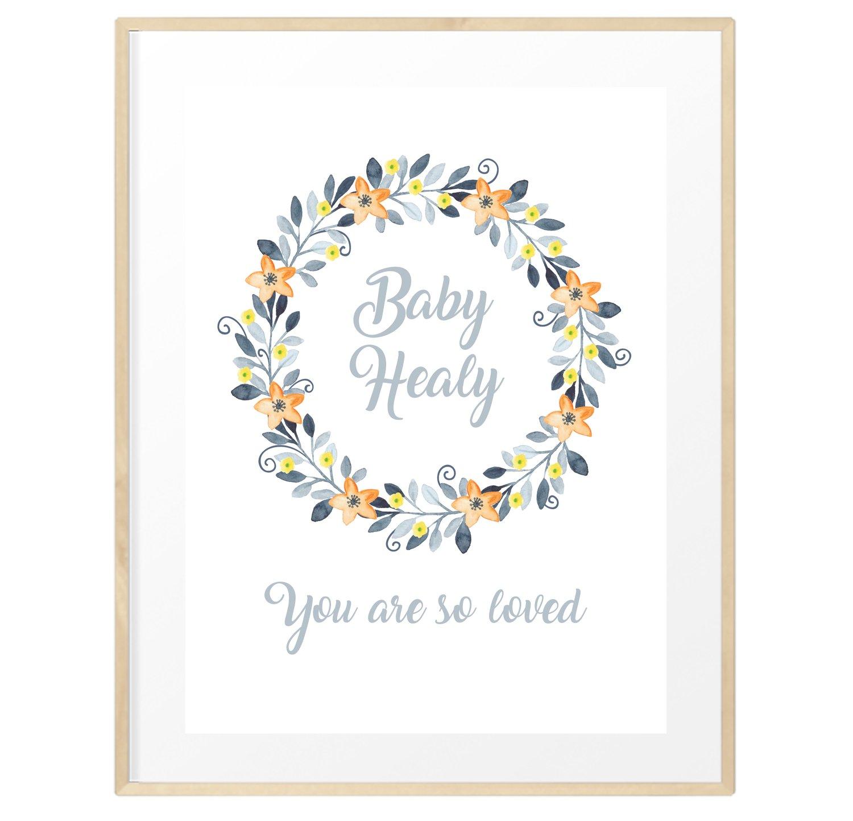Image of Personalised gender neutral baby print