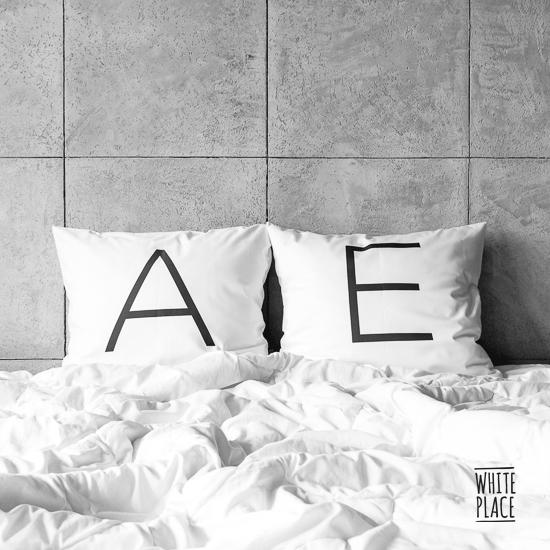 Zdjęcie przedstawia litery / A / E