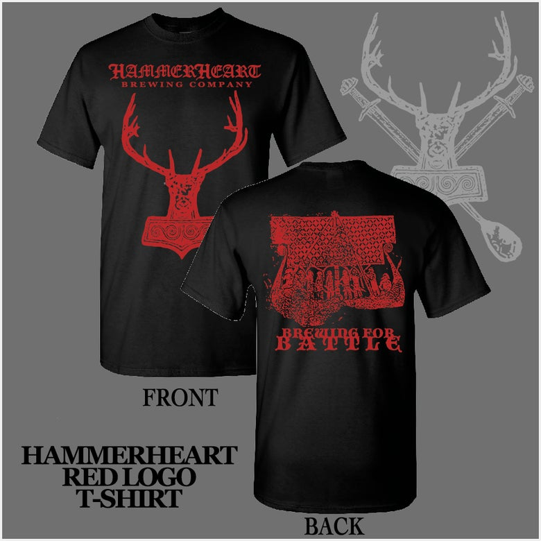 Image of Hammerheart Classic Red Logo T-Shirt