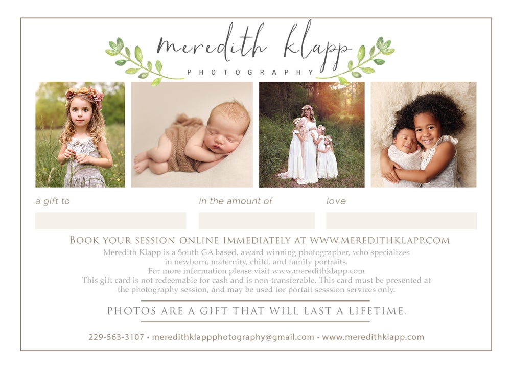 Image of Classic Newborn Session Gift Card