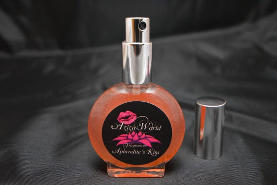 Image of Aphrodite's Kiss Perfume, Chypre Floral with Sandalwood, Orchid, Kiwi, Handmade Ladies Perfume