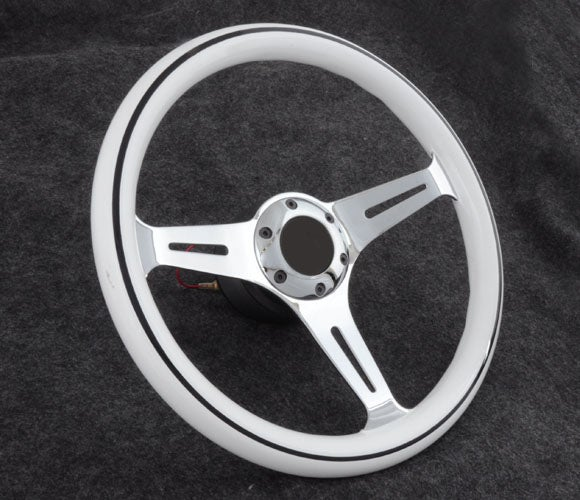 "Image of 350mm ""8 Ball"" Steering Wheel/Quick Release/Short Hub Combo"
