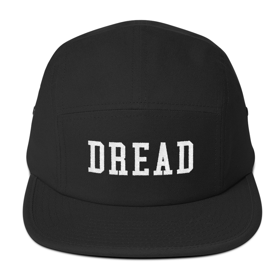 "Image of Black ""Dread"" 5 Panel Hat"