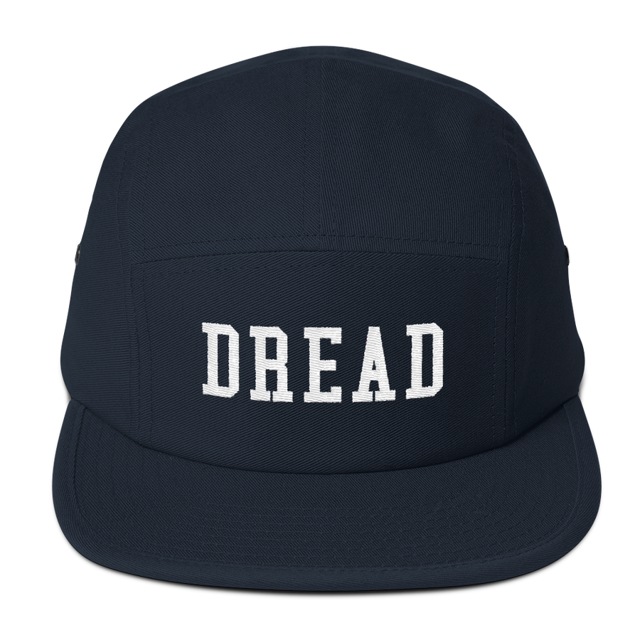 "Image of Navy ""Dread"" 5 Panel Hat"