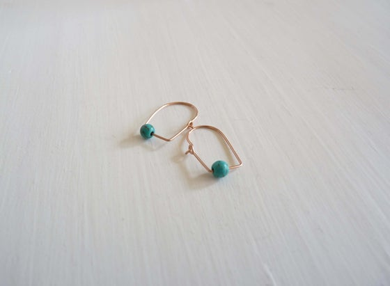 Image of Epi turquoise earrings