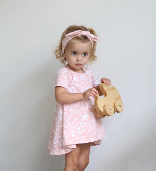 Image of Pink Floral Swing Dress
