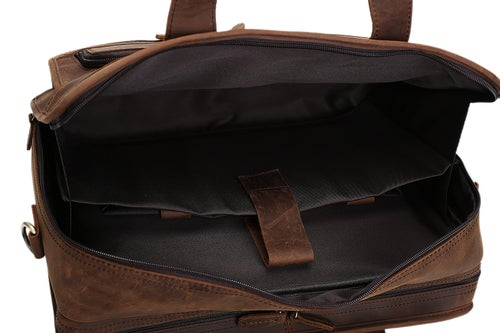 Image of Handmade Genuine Leather Luggage Bag Travel Bag Laptop Briefcase DZ11