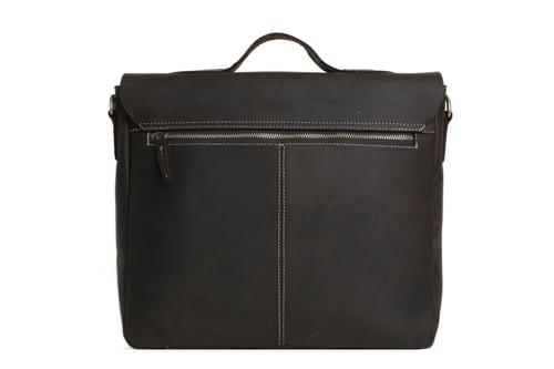 Image of 14'' Leather Briefcase Messenger Bag Laptop Bag Men's Bag 7108