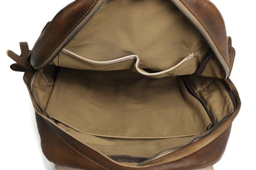 Image of Handmade Full Grain Leather Backpack, School Backpack, Travel Backpack, Rucksack 9031