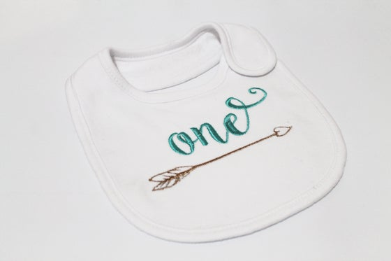 Image of First Birthday Bib - Boho Arrow